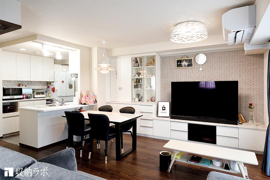 収納スペースが足りない間取りの悩みを解決した、オーダー家具。